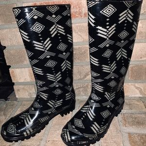 Shoes - Print Rain Boot
